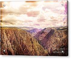 Black Canyon Colorado Acrylic Print by Janice Rae Pariza