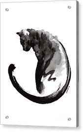 Black Cat Acrylic Print by Mariusz Szmerdt