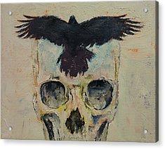 Black Crow Acrylic Print by Michael Creese