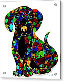 Black Dog 2 Acrylic Print by Nick Gustafson