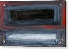 Black Gray Red After Rothko Acrylic Print by Anne Cameron Cutri