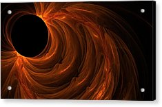 Black Hole Acrylic Print by Lourry Legarde