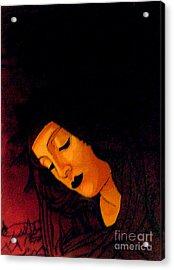 Black Madonna Acrylic Print by Genevieve Esson
