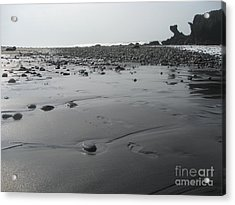 Black On Grey Acrylic Print by Stav Stavit Zagron