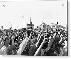 Black Panther Rally Acrylic Print by Underwood Archives Adler