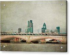 Blackfriars Bridge Acrylic Print by Violet Gray