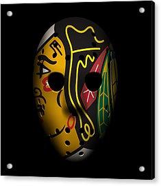 Blackhawks Goalie Mask Acrylic Print by Joe Hamilton