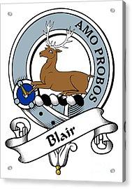 Blair Clan Badge Acrylic Print by Heraldry