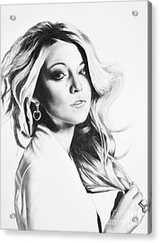 Blake Lively Acrylic Print by Michael Durocher