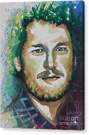 Blake Shelton  Country Singer Acrylic Print by Chrisann Ellis