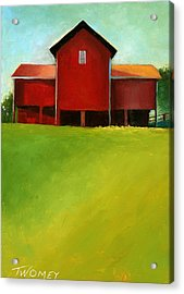 Bleak House Barn 2 Acrylic Print by Catherine Twomey