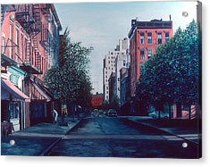 Bleeker Street Acrylic Print by Anthony Butera