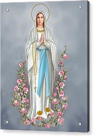 Blessed Virgin Acrylic Print by Valer Ian