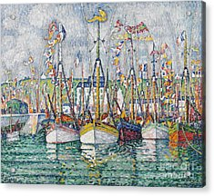 Blessing Of The Tuna Fleet At Groix Acrylic Print by Paul Signac