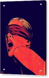 Blindfolded Acrylic Print by Giuseppe Cristiano