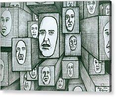 Block Head Acrylic Print by Richie Montgomery