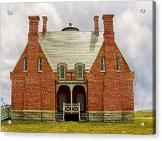 Block Island Southeast Light -back View Acrylic Print by Lourry Legarde