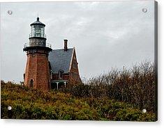 Block Island Southeast Lighthouse Acrylic Print by Nancy  de Flon
