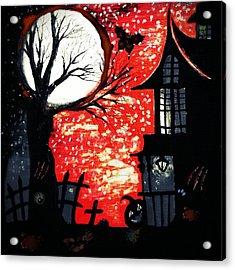 Blood Moon Acrylic Print by Denisse Del Mar Guevara