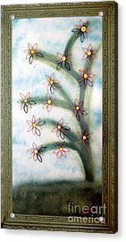 Bloom And Re-bloom Acrylic Print by Crush Creations