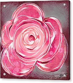 Bloom V Acrylic Print by Shadia Derbyshire