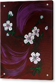 Blossoms Acrylic Print by Nyxie Clark