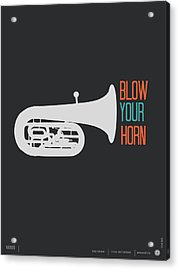 Blow Your Horn Poster Acrylic Print by Naxart Studio