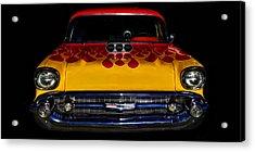 Blown 57 Chevy Acrylic Print by Ken Smith