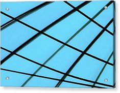 Blue Abstract Acrylic Print by Tony Grider