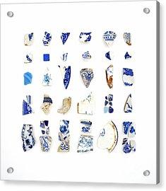 Blue And White Beach China Acrylic Print by Jennifer Booher
