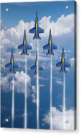 Blue Angels Acrylic Print by J Biggadike