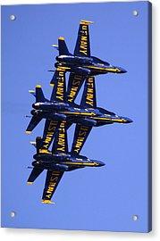 Blue Angels II Acrylic Print by Bill Gallagher