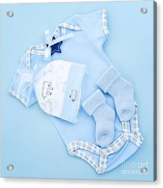 Blue Baby Clothes For Infant Boy Acrylic Print by Elena Elisseeva