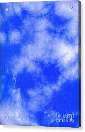 Blue Batik Pattern  Acrylic Print by Kerstin Ivarsson
