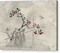 Blue Bird Acrylic Print by Aged Pixel