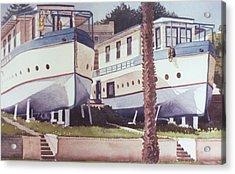 Blue Boat Apartments Encinitas Acrylic Print by Mary Helmreich