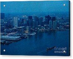 Blue Boston Acrylic Print by Claudia M Photography