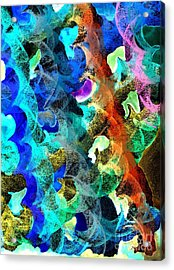 Blue Chain Acrylic Print by Julio Haro