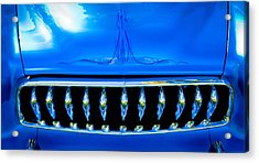 Blue Chrome Grill Acrylic Print by Phil 'motography' Clark