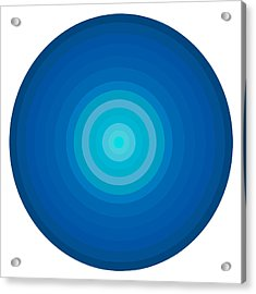 Blue Circles Acrylic Print by Frank Tschakert