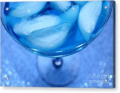 Blue Cocktail Acrylic Print by Krissy Katsimbras