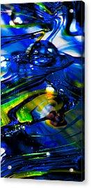 Blue Crystal Acrylic Print by David Patterson
