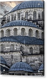 Blue Dawn Blue Mosque Acrylic Print by Joan Carroll