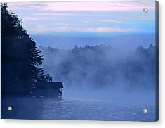 Blue Dawn Mist Acrylic Print by Susan Leggett