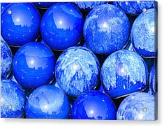 Blue Decorative Gems Acrylic Print by Toppart Sweden