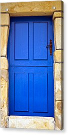 Blue Door Acrylic Print by Frank Tschakert
