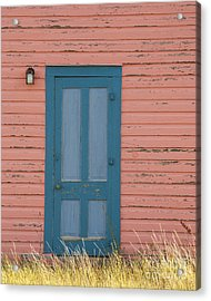 Blue Entrance Door Acrylic Print by Juli Scalzi
