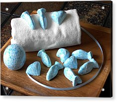 Blue Fish Bath Bombs Acrylic Print by Anastasiya Malakhova