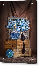 Blue Flower Still Life Acrylic Print by Tom Mc Nemar