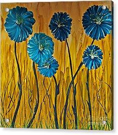 Blue Flowers Acrylic Print by Ryan Burton